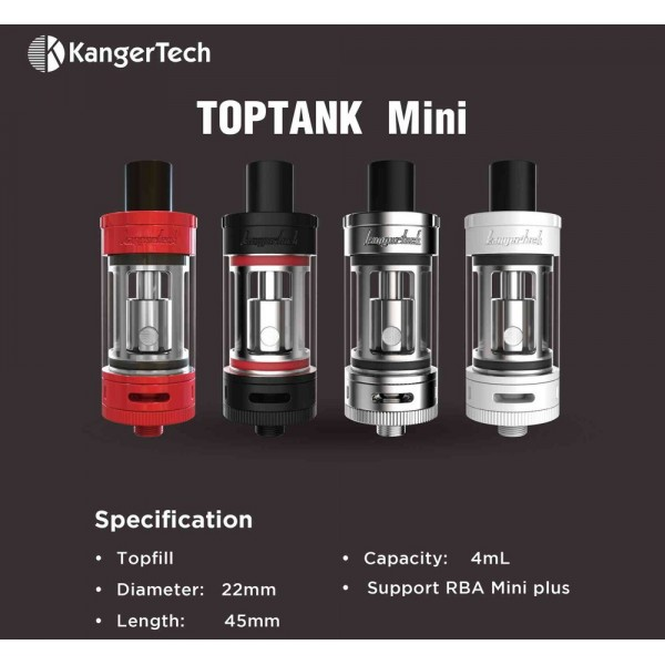 clearomiseur toptank mini de kangertech atoutvap rennes. Black Bedroom Furniture Sets. Home Design Ideas