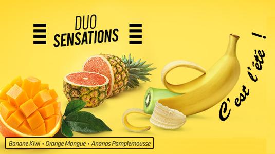 Les Duo Sensation, mélanges fruités rafraichissants